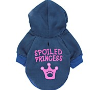 Cat / Dog Hoodie Dark Blue Winter Tiaras & Crowns Cosplay