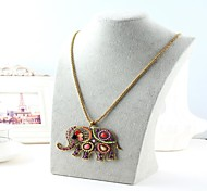 Bohemian Style Elephant Pendant Necklaces (Hualuo Jewelry)