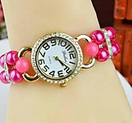 Women's Fashion Double Pear Band Quartz Bracelet Watch(Assorted Colors)