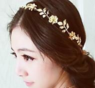 старинные золотые цветы и листья кристалл лента для волос оголовье глава цепь волосы ювелирные изделия accessires головы украшения