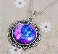 moda galaxia europeo el sol patten collar cronometrado colgante de piedra de las mujeres (1 pc)