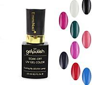 1pcs UV Color Gel Nagellack no.01-12 tränken-weg (15 ml, farblich sortiert)