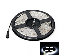 Waterproof 72W 5000lm 5500-6500K 300-SMD 5630 LED White Light Strip (5m / DC 12V)