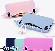 cassa molle lovly balena in silicone per iPhone 4 / 4s (colori assortiti)
