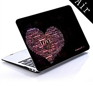 Love Heart Design Full-Body Protective Plastic Case for 11-inch/13-inch New MacBook Air