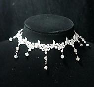 handmade elegante lolita cristal doce colar branco