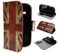 Retro Union Jack Wallet PU Leather Cover with Stand and Card Slot for Samsung Galaxy Fame Lite S6790