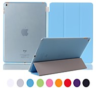 Natusun™ Slim Smart Three Fold The Soft PU Leather Cover Hard Translucent Plastic Shell for iPad Air 2(Assorted Colors)