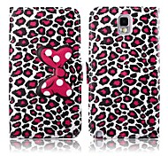 Attractive Leopard Print Pattern PU Leather Full Body Case with Stand for Samsung Galaxy Note 3