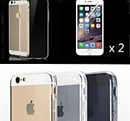 Transparent TPU with Screen Protector Cover for iPhone 6 (Assorted Color)