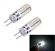 G4 W 24 SMD 3014 100~120 LM Cool White Bi-pin Lights DC 12 V