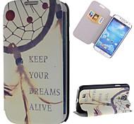 halten Traumfänger-Muster PU-Leder Ganzkörper-Case mit Ständer und Card Slot für Samsung Galaxy S4 i9500