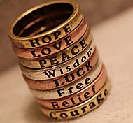 Ring Party / Daily / Casual / Sports Jewelry Copper Women Band Rings7 Coppery
