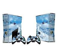 xbox 360 slim console adesivo coprire adesivo di protezione della pelle controller di pelle