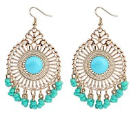 Drop Earrings Resin Alloy White Black Red Blue Jewelry For Daily