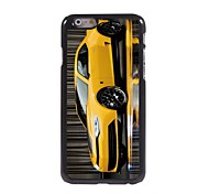 Yellow Coupe Pattern Aluminum Hard Case for iPhone 6