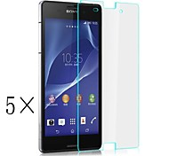 [5-Pack]Professional High Transparency LCD Crystal Clear Screen Protector with Cleaning Cloth for Sony Xperia Z3