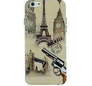 The Big Ben And Eiffel Tower And Gun Pattern TPU Soft Back Cover Case for iPhone 6