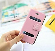 Stable Talk Pattern PU Hard Case with Ultra-thin Double Side Open for iPhone 5/5S (Assorted Colors)