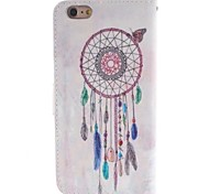 Women in Cap Design PU Leather Case with Card Slot and Stand for iPhone 6 Plus