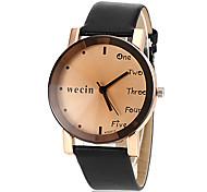Women's Casual Style PU Band Quartz Wrist Watch (Assorted Colors)