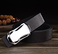Men's Hot Smooth Buckle Sell Racing Car PU Wide Belt