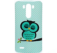 For LG Case Pattern Case Back Cover Case Owl Soft TPU LG