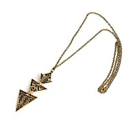 Fashion Bronze Pyramid Necklace