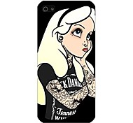 Girl of Thinking Pattern Back Case for iPhone5/5S