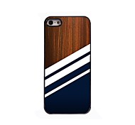 Black Stripe Design Aluminium Hard Case for iPhone 4/4S