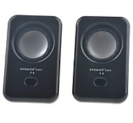 SVO T4  Protable USB 2.0 Mini Speaker for PC / Cellphone / MP3 / DVD 1-Pair