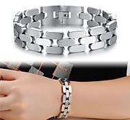 Bracelet en acier de titane cool man de texture