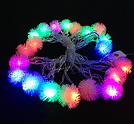Plush Ball 5M 4.8W Christmas Flash 20-LED RGB Light Strip Light Lamp (EU Plug , AC 110-220V)