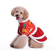Cani Vestiti Rosso Inverno Natale Cosplay / Natale