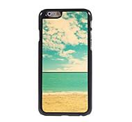 la playa y el caso duro de aluminio azul cielo diseño para el iphone 6