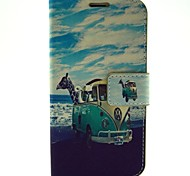 Animal Travel Pattern PU Leather with Case and Card Slot for Samsung Galaxy S5 I9600