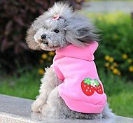 Lovely Strawberry Pattern Clothes With Hoodie for Pet Dogs(Assorted Sizes)