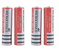 MICROCOSMOS 4800mAh 18650 Rechargeable Lithium Ion Battery 4pcs