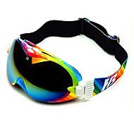HB Rainbow Stripes Frame Double Lens Compressive Snow Googgles