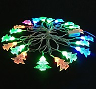 Christmas Tree 5M 4.8W Christmas Flash 20-LED RGB Light Strip Light Lamp (EU Plug , AC 110-220V)