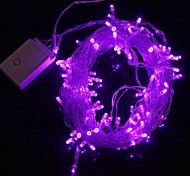 Z®ZDM 10M 9.6W Christmas Flash 100-LED Purple Light Strip Light Lamp (EU Plug , AC 220V)