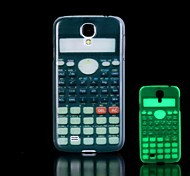 Calculator Pattern Glow in the Dark Hard Case for Samsung Galaxy S4 Mini I9190