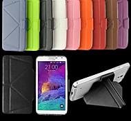 fitin® proteção TPU caso de corpo inteiro pu + w / stand para Samsung Galaxy Note 4 (cores sortidas)