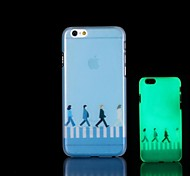 The Beatles Pattern Glow in the Dark Hard Case for iPhone 6