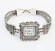 Women's European Style Classic Retro Square Case Quartz Bracelet Watch