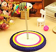 Spring Platform With Sisal Rat Toys For Pet Cats