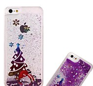 Fashion Transparent Glitter Sand Bling Quicksand Christmas Tree Pattern Case Cover for iPhone 6(Assorted Colors)