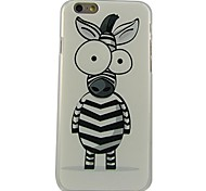 Cartoon Zebra Pattern Plastic Hard Back Cover for iPhone 6
