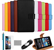 COCO FUN® Ultra Slim Genuine Leather Case with Film,Cable and Stylus for Samsung Galaxy S2 i9100(Assorted Colors)