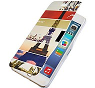 Eiffel Tower Pattern Full Body Case with Hole for iPhone 6